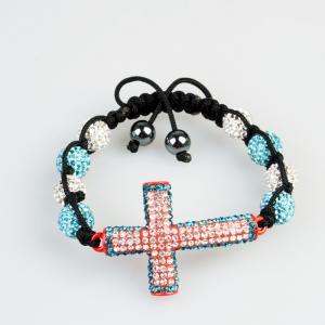 China 2012 new design Tresor Paris Crystal Bangle Bracelet with a cross wholesale