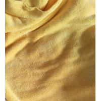 China 150cm Width 550gsm Microfiber Cleaning Cloth Yellow Coral Fleece 150D / 144F wholesale