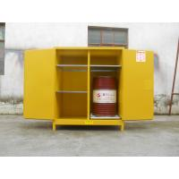 China 110 Gallon Yellow Drum Storage Cabinets With Removable Roller For Oil Paint wholesale