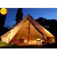 China Big 12 Persons Inflatable Tent Canvas Bell Tent 5 X 5M Waterproof For Wedding Party wholesale