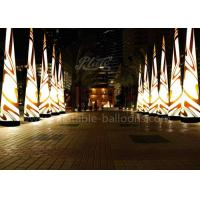 China 5m Oxford Cloth Inflatable Cone Color Changing Lighting For Event wholesale