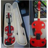 Buy cheap Red Adult Full Size Solid Basswood Electric Violins With Ebonized Fingerboard from wholesalers