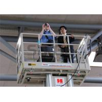 China Aluminum Mast Type Self Propelled Aerial Lift 6m For 2 Persons 480KG Capacity wholesale