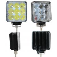 China 27W Truck Mounted Work Lights , 4D 4 Inch Square Led Work Lights 1800lm Lumens wholesale