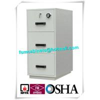 Quality Locking File Cabinets 3 Drawer Vertical Lockable Storage Cabinets For Office / Hotel for sale