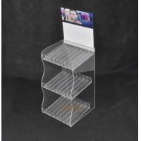 China Lipstick 3 Tier Acrylic Display Stand With 24 Compartments Simple Design wholesale