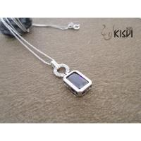 China Elegant designs and excellent finishing925 sterling silver gemstone pendant W-VB899 wholesale