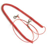 China Stretchable plastic fishing rod coil lanyard holder w/custom different size for security wholesale