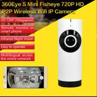 China EC2 Mini 180° Panorama Camera Wireless WIFI P2P IP Night Vision Home Security Surveillance iOS/Android APP Control wholesale