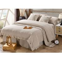 Quality Pure Linen Wooden Buttons Modern Bedding Sets 4Pcs Real Simple Logo Customized for sale