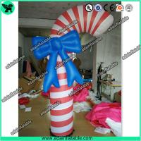China Christmas Decoration Inflatable Candy With LED Light For Kids Events wholesale