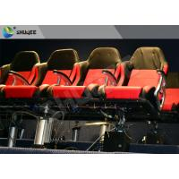 China Movie Equipment Pneumatic 7D Cinema System Standard Red Chair With Leg Sweep wholesale
