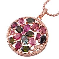 China High quality guarantee crystal silver gemstone pendant K-BC-C800 with competitive price wholesale