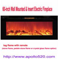 China 60 Logs Built-in Wall Mounted Electric Fireplace wholesale