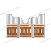 China Wooden Horse Stall Panels Sliding Door Equestrian Horse Stable CE IOS Listed on sale
