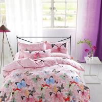 China Modern Home Bedroom 4 Piece Bedding Sets 100% Cotton Tancel Material Butterfly Design wholesale