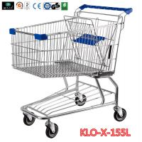 Buy cheap 155L Hyper Market / Grocery Shopping Trolley With Transparent Powder Coating product