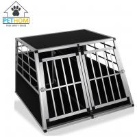China XXL Dog Cage Transport Partition Box Crate Dog Carrier 2 Door Puppy Training ZX104A2 wholesale