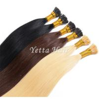 China Pure 24 Inch Pre Bonded I Tip Hair Extensions With Soft And Silky wholesale