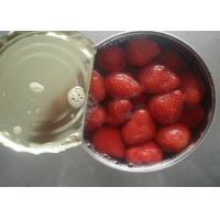 China Seedless Canned Strawberry Organic Canned Fruit in Light Syrup 14-17% wholesale