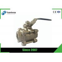China SS316 BSP Threaded Flow Control Stainless Steel Ball Valve 3PC wholesale