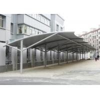 Buy cheap Professional Tensile Membrane Structures Car Park Shade Structures Steel Cable Tightened from wholesalers