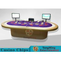 China Casino Clay Poker Chips / Ceramic Poker Chips Table With Poker Barcode Scanner wholesale