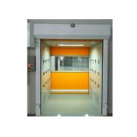 Quality PVC Rolling Shutter Door Cleanroom Air Shower Micro-electronics PLC Control System for sale