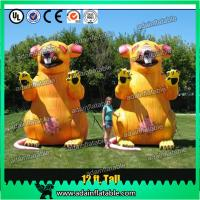 China 3m Advertising Inflatable Mouse Oxford Event Inflatable Rat Cartoon For Parade wholesale