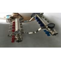 China Heatmiser Underfloor Heating Manifold For Pex  Water Manifolds Without Pump Sliver Color on sale