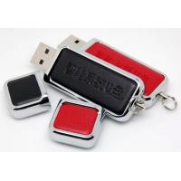 China Promotional Huge School Leather USB Flash Drive 32G  64G 128GB  , Leather Memory Stick wholesale