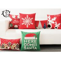 China Merry Christmas Decorative Cushions Pillows Throw Cushion Case Home Decor Cotton Linen for Sofa wholesale