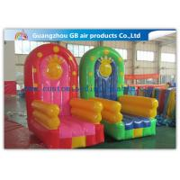 China PVC Tarpaulin Seat Air Inflatable Sofa Couch Chair / Blow Up Advertising Signs on sale