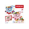 "China W / Fruit Age 3 Pink 33Pcs Childrens Toy Kitchen Sets 17 "" Pretend Play Cashier Shopping Cart wholesale"
