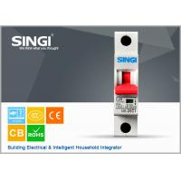 China Power mini single pole circuit breaker for home with CE / CB Certificate wholesale