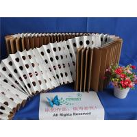 China 18kg/m² Dust Holding Dry Type Pleated Paper Filter Folded Brown Kraft Paper wholesale