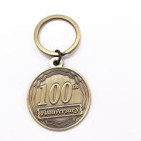 China Personalized Custom Made Metal Keyrings , Antique Gold Metal Keychain wholesale