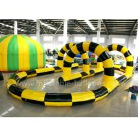 China Giant Steady PVC Tarpaulin Inflatable Zorb Ball Track For Interactive Games wholesale