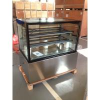 Quality 1.5m Black Color Cake Showcase Marble Cake Chiller Bakery Display for Bakery for sale