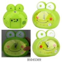 China Lovely frog alarm clock table clock for kids wholesale