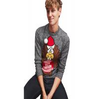 China Round Neck Dark Grey Ugly Christmas Sweater Hand Washing No Bleach For Mens wholesale