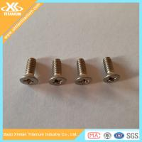 China Titanium Phillips Countersunk Head Screws wholesale