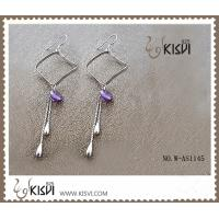 China 925 fashion sterling silver drop gemstone earrings with competitive price  W-AS1145 wholesale