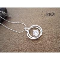 China Competitive price & best service sterling silver gemstone pendant with zircon W-VB951 wholesale