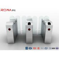 China Weatherproof High Security Glass Sliding Turnstile Barrier Gate With Card Reader wholesale