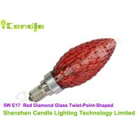 China Red Diamond Glass Highest Lumen LED Bulb Candle Lights 5W Twist Shape C35 on sale