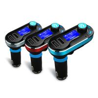 China BLUETOOTH CAR FM TRANSMITTER + DUAL PORT 2.1A CAR CHARGER wholesale