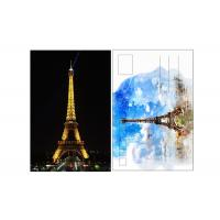 China 11x16cm Paris Eiffel Tower Day - Night 3D Lenticular Postcard With CMYK Printing wholesale