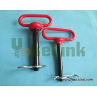 Alloy steel plastic coated hitch pin for tractor linkage parts