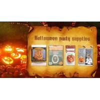 China Die Cut Cellophane halloween treat bags Handle For Hallowmas Party on sale